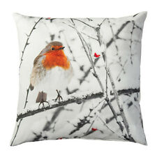 "NEW IKEA ELDBLOMMA Cushion Cover Bird Tree Pillow Cover 20 x 20"" Cotton Velvet"