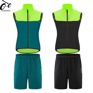 Mens Summer Cycling Kit Jersey Shorts Set Sleeveless Shirts Breathable Half Pant