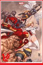 X-MEN 8 Fevrier 2014 Variant cover Angouleme Marvel Now 1500 Ex Panini # NEUF #
