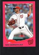 GIO GONZALEZ 2013 TOPPS MINI #626 PINK PARALLEL WASHINGTON NATIONALS SP #18/25