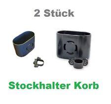 2x Doppelkorb Stockhalter Gehstock Gastrock Stabil 8cmx4mm Rollstuhl Rollator