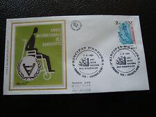 ANDORRE (francais) - enveloppe 1er jour 7/11/1981 (handicapes) (cy63) andorra(A