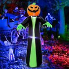 Halloween Pumpkin Ghost Inflatables Prop Decor with LED Lights 4 Ft Outdoor