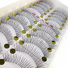 LC Beauty 10 Pairs Of Handmade Natural Long And Thin Makeup False Eyelashes