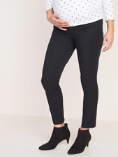 -Old Navy Maternity Side Panel Pixie Ankle Pants Size 2- Black- NWOT S#257353