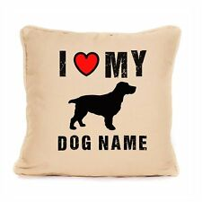 Personalised I Love My Springer Spaniel Cushion Best Gift For Dog Lovers 18x18