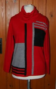 Paramour, Ladies, Retro, Red, Jumper, Top, Roll Neck, size 14-16