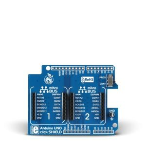 Daughter Board, Arduino UNO Click Shield, 2x mikroBUS Host Sockets