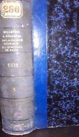 Boletín Y Memorias Ste Médico Hospitales De París Tomo 2 1932 ABE