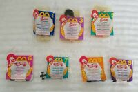 BARBIE HOT WHEELS McDONALD'S HAPPY MEAL 1995 SET OF 7 TOYS + 4 FRENCH FRY BOXES