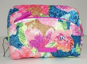 Vera Bradley Iconic Medium Cosmetic Bag Superbloom NWT