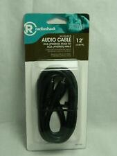 USA SELLER 12ft RADIO SHACK SHIELDED AUDIO CABLE RCA PHONO MALE / MALE 4201143