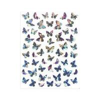 3D Nail Art Stickers Self-adhesive Butterfly Decals Nail Ultra-thin Decor U6K9