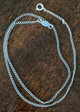 Vintage MARVEL Italy 925 Sterling Silver Chain Fine Dainty Chain Necklace 15""