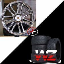 "24"" CA83 Style Wheels & Tires Chrome fits Cadillac Escalade ESV EXT 6x139.7"