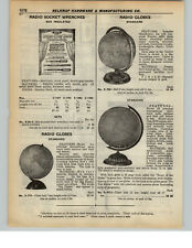 1937 PAPER AD Radio Shortwave maps Admiral Bird Route World Globe Globes