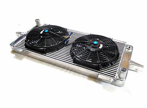Universal High Flow Alloy Radiator & Fans Kit Project Track Rally Race Car
