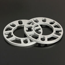 2Pcs Universal 10MM Alloy Aluminum Wheel Spacers Shims Plate 4/5 Stud Fit New