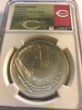2014 Baseball HOF HALL FAME Proof Silver $1 - NGC MS70 UCAM Cincinnati Reds