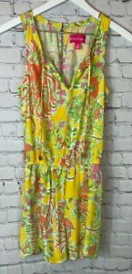 LILLY PULITZER For Target Happy Place Challis Romper Size Small