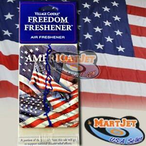 Sweet Balsam Air Freshener American USA Pride Flag Patriot Freedom Car Auto Home