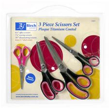 Titanium Coated Three Piece Scissor Set | Birch 170079