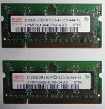 Hynix 512Mb DDR2 - 2Rx16 PC2-4200S-444-12 X 2-Works Great-Free Post