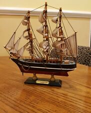 """Vintage Wooden Model Galleon Sailing Tall Ship """"Cutty Sark 1869"""" - 10"""" in length"""