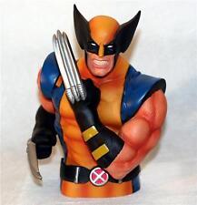 "WOLVERINE Logan X MEN Marvel Superhero Hard Vinyl BUST COIN BANK 7-1/2"" New"