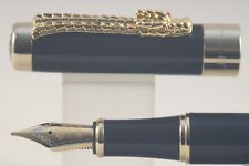 Jinhao No. 1200 Lacquered Black Dragon Medium Fountain Pen with Gold Trim