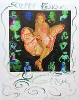 "MARIA MURGIA  ""Marilyn Monroe"" CM 40X50 pezzo unico dipinto"
