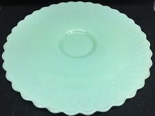 Jadeite green glass Hobnail desert cake stand Plate Platter tray Jade milk large