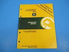John Deere Tractors Operators Manual Standard Duracushion Disks OM-A50492 M4652