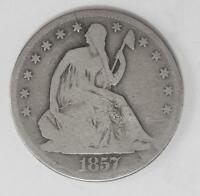 1857-P Seated Liberty Silver Half Dollar Drapery at Elbow