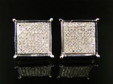 Men/Ladies 12 Mm 4 Prong Diamond Stud Earrings