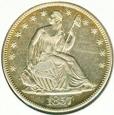 1857 O Seated Liberty Half Dollar - Choice AU