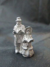 Dollhouse Miniatures Unfinished Metal Christmas Carolers Figurine