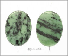 Large Green Zoisite Oval Pendant Bead 35mm #85344