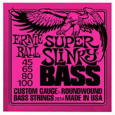3 X 4 String Bass Guitar Strings 2834 Ernie Ball Super Slinky Roundwound 45-100