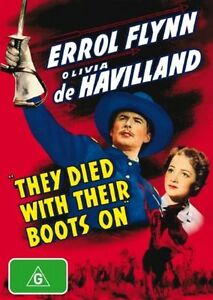 They Died With Their Boots On DVD - ERROL FLYNN (PAL, 2007) VGC, FREE POST