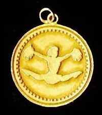 LOOK New 24kt Gold Plated over sterling silver Cheerleader Faith in God Charm Je