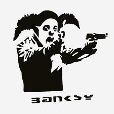 """BANKSY CLOWN WITH GUNS Urban Art,  24""""x24"""" Canvas"""