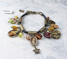 Vintage Danish Andersen PILGRIM BABUSHKA Bracelet Gold Charm Russian Doll BNWT