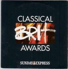 CLASSICAL BRIT AWARDS: VENGEROV PERAHIA RATTLE HICKOX MASUR, CHLOE HANSLIP ELGAR