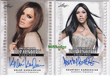 (2) POP CENTURY PREVIEW AUTO: KHLOE/KOURTNEY KARDASHIAN -AUTOGRAPH KIM'S SISTERS