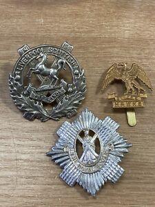 British Army Cap Badges Liverpool Scottish Royal Navy Hawke The Royal Scots