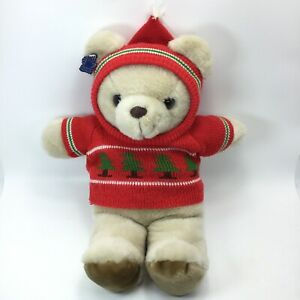Vintage Applause Plush Bear with Sweater - 1986