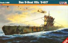 HALF PRICE! U-BOOT TYPE VII C (BRITISH NORWEGIAN US NAVY MKGS) 1/400 MISTERCRAFT