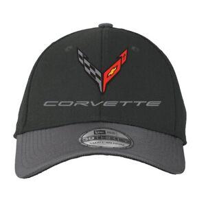 C8 Next Gen Corvette Flex Fit Performance Hat - M/L - Black