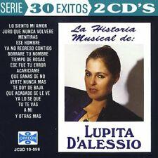 Lupita D'Alessio : La Historia Musical de Latin Pop/Rock 2 Discs Cd